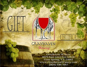 Grayhaven Gift Certificate - Choose Your Amount